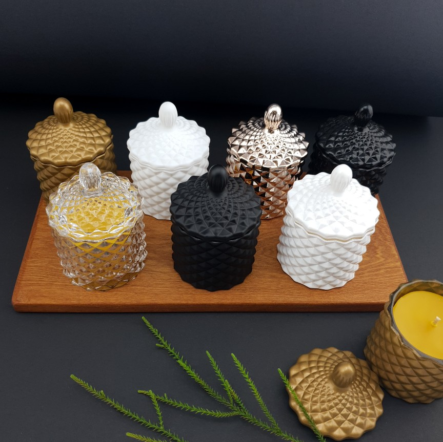 Baby Geo Beeswax Candles