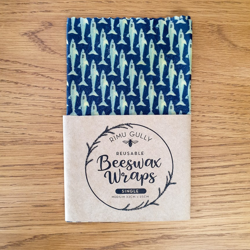 Sharks Beeswax Wraps